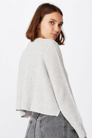 Cotton On Sweaters & Cardigans | Womens Archy Cropped 2 Pullover Grey Marle