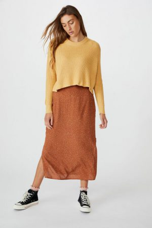Cotton On Sweaters & Cardigans | Womens Archy Cropped 2 Pullover New Wheat