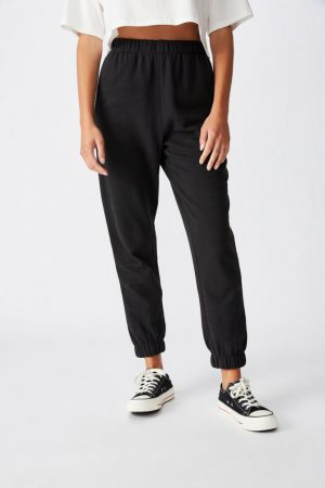 Cotton On Sweatpants | Womens High Waisted Trackpant Washed Black