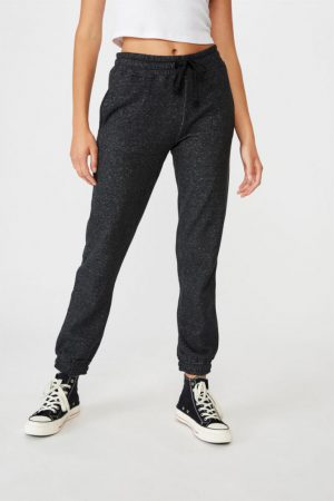 Cotton On Sweatpants | Womens Slim Fit Trackpant Black Marle