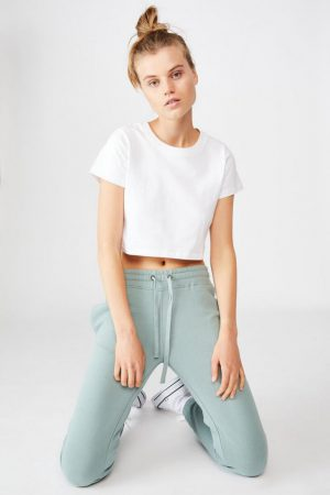 Cotton On Sweatpants | Womens Slim Fit Trackpant Chinois Green