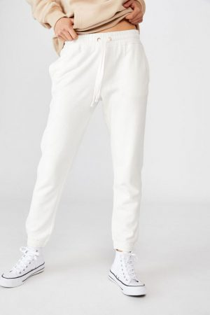 Cotton On Sweatpants | Womens Slim Fit Trackpant Cloud Dancer