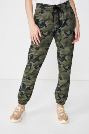 Cotton On Sweatpants | Womens Slim Fit Trackpant Joanna Camo