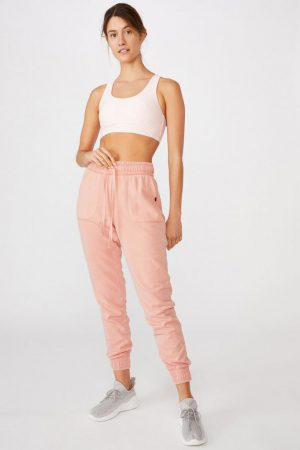 Cotton On Sweatpants | Womens Washed Gym Trackpant Peach Parafait Wash