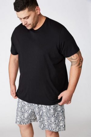 Cotton On Swim Shorts | Mens Bg Hoff Short Black/Grey Snakeskin