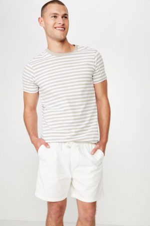 Cotton On Swim Shorts | Mens Easy Short White/Texture
