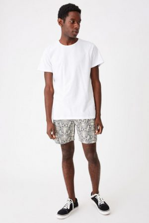 Cotton On Swim Shorts | Mens Hoff Short Black/Grey Snakeskin