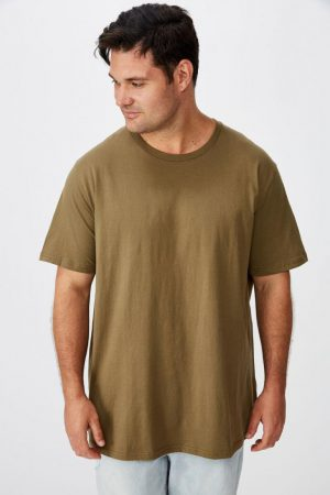 Cotton On T-Shirts | Mens Bg Essential Skate Tee Jungle Khaki