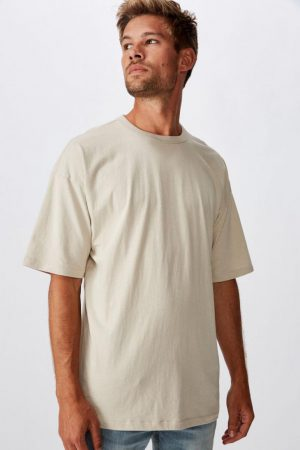 Cotton On T-Shirts | Mens Droptail Tee Pearl