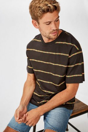 Cotton On T-Shirts | Mens Dylan Tee 80'S Multi Stripe