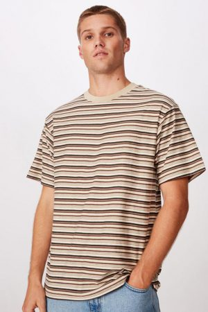 Cotton On T-Shirts | Mens Dylan Tee Textured Stone