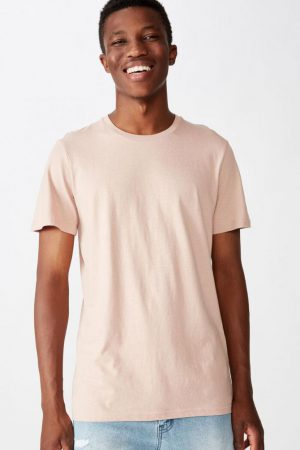 Cotton On T-Shirts | Mens Essential Crew Tee Dirty Pink
