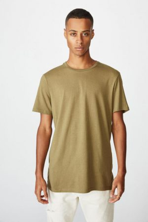 Cotton On T-Shirts | Mens Essential Crew Tee Jungle Khaki