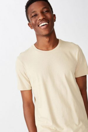 Cotton On T-Shirts | Mens Essential Crew Tee Stone Clay