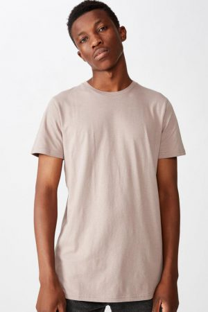 Cotton On T-Shirts | Mens Essential Longline Scoop Tee Dusk
