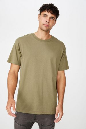 Cotton On T-Shirts | Mens Essential Skate Tee Jungle Khaki