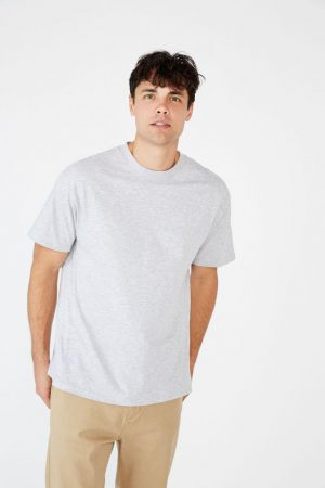 Cotton On T-Shirts | Mens Essential Skate Tee Light Grey Marle