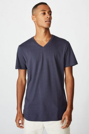 Cotton On T-Shirts | Mens Essential Vee Neck True Navy