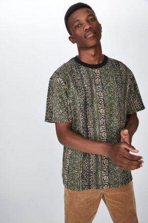Cotton On T-Shirts | Mens Festival Tee Tribal Dust Vertical Stripe