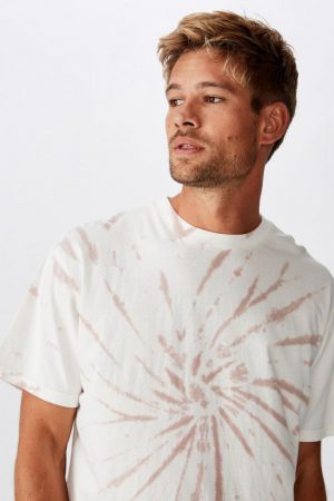 Cotton On T-Shirts | Mens Festival Tee Vintage White/Dirty Pink