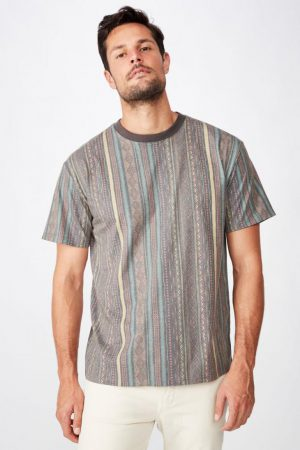 Cotton On T-Shirts | Mens Festival Tee Washed Multi Colour