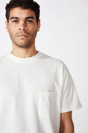 Cotton On T-Shirts | Mens Washed Pocket Tee Vintage White