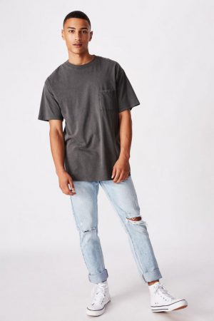 Cotton On T-Shirts | Mens Washed Pocket Tee Washed Black