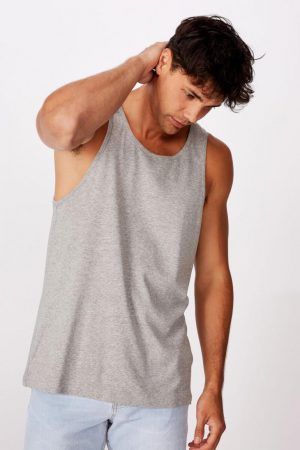 Cotton On Tanks & Singlets | Mens Tbar Tank Grey Marle