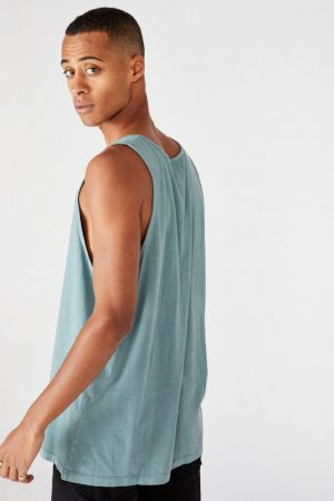 Cotton On Tanks & Singlets | Mens Vacation Tank Smokey Teal