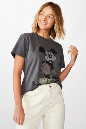 Cotton On Vintage | Womens Classic Mickey And Co T Shirt Lcn Dis Mickey Vintage/Slate Grey