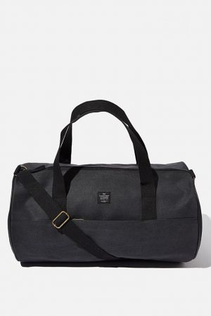 Cotton On Bags | Womens Canvas Barrel Bag Washed Black
