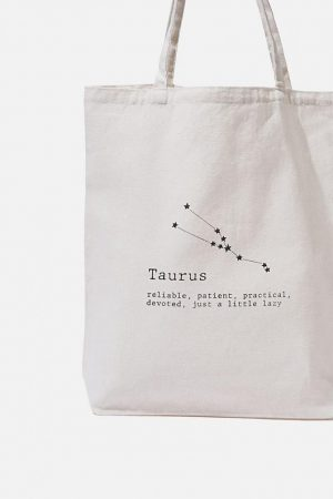 Cotton On Bags | Womens Foundation Online Exclusive Star Sign Tote Taurus
