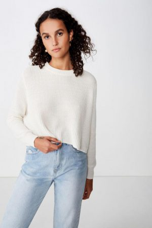 Cotton On Sweaters & Cardigans | Womens Archy Cropped 2 Pullover Gardenia