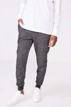Cotton On Joggers | Mens Trippy Slim Trackie Black/Texture