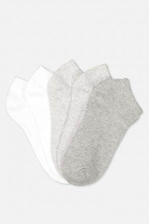 Cotton On Socks | Womens 5Pk Ankle Sock Grey Mix