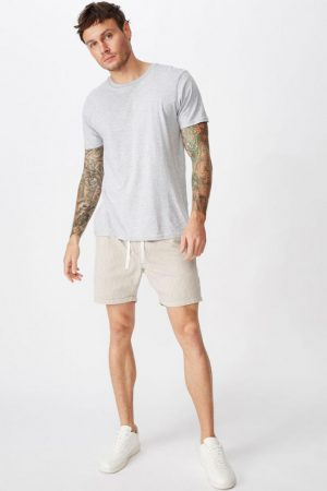 Cotton On Swim Shorts | Mens Easy Short Tan/White Yd Stripe