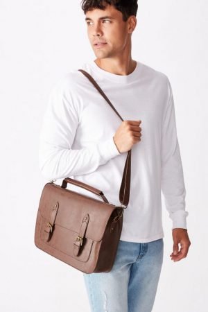 Cotton On Bags | Mens Milton Satchel Rich Tan