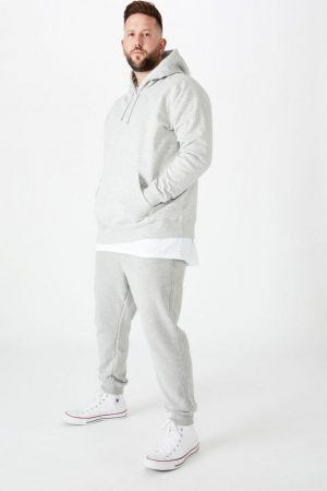 Cotton On Joggers | Mens Bg Trippy Slim Trackie Peached Grey Marle