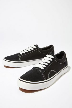 Cotton On Sneakers | Mens Axell Skate Shoe Black/White