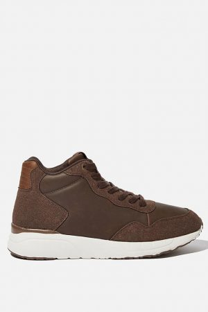 Cotton On Sneakers | Mens Marcel Sneaker Boot Brown/White
