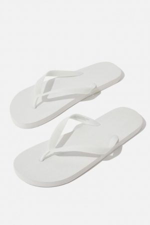 Cotton On Socks | Mens Bondi Flip Flop White